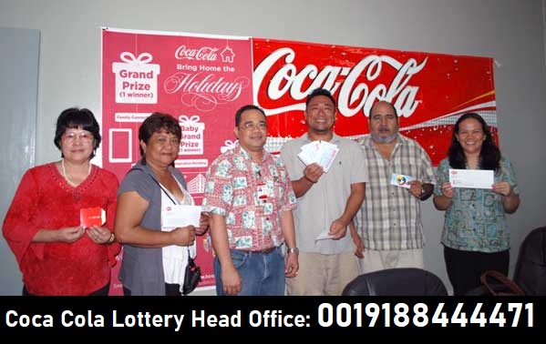 coca cola lottery head office