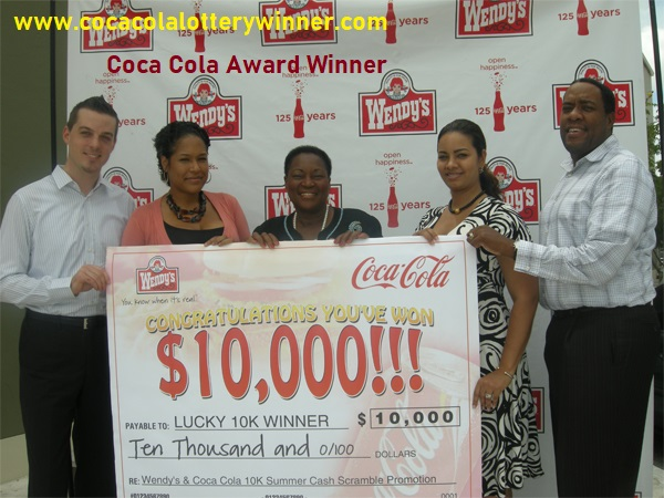 coca cola lottery winner